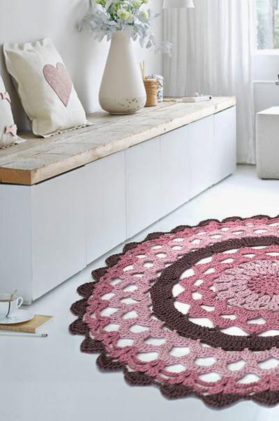 Patró alfombra de ganchillo con natura XL