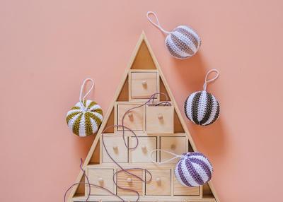 Patrón de ganchillo: bolas de Navidad
