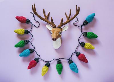 Patrón de ganchillo: guirnalda de Navidad