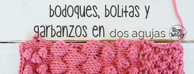 Vídeo tutorial: como tejer bodoques y bolitas en tricot