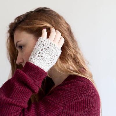 Patrón Mitones Crochet