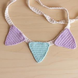 Patrón de Banderines de colores a crochet
