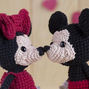 Patrón Minnie y Mickey Mouse
