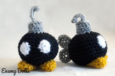 Bombas de Mario amigurumi
