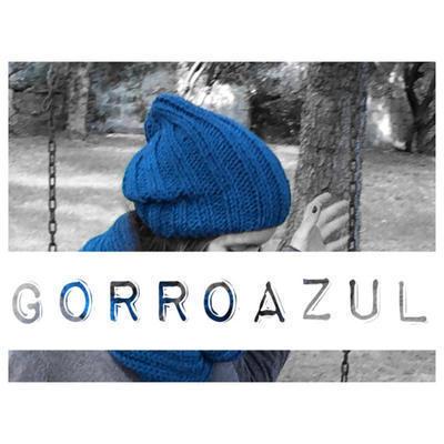 Kit para tejer Gorro azul