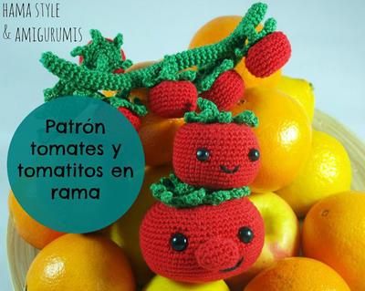 Patrón tomates y tomatitos en rama