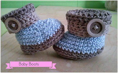 Botitas a crochet para bebé