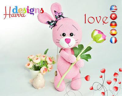 PATRÓN - Amor Bunny (Amigurumi Crochet)