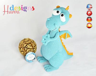 PATRÓN - Blummy el dragón (Amigurumi Crochet)