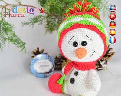 PATRÓN - decoración de Navidad - muñeco de nieve