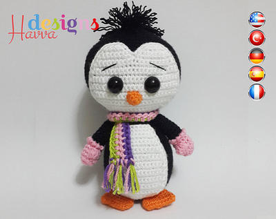 PATRÓN - Lindo pingüino (Amigurumi Crochet)