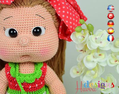 PATRÓN-Mia muñeca vestida de fresita