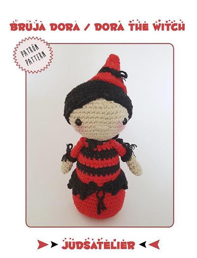 Patrón crochet bruja Halloween