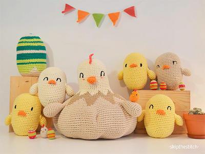 Amigurumis gigantes: Huevos y Pollitos de Pascua