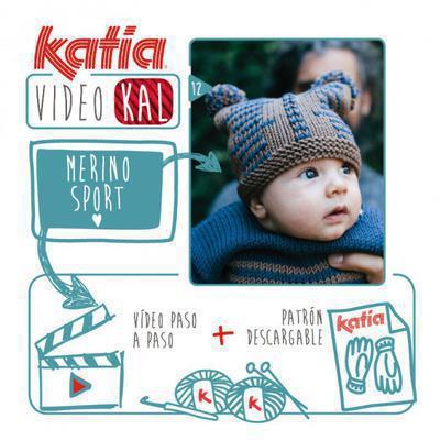 Gorro de punto para bebé tejido con Merino Sport o Merino Aran