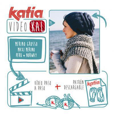 Katia VideoKAL Especial Invierno: juvenil gorrito tejido con Merino Grosso, Maxi Merino, Peru o Norway