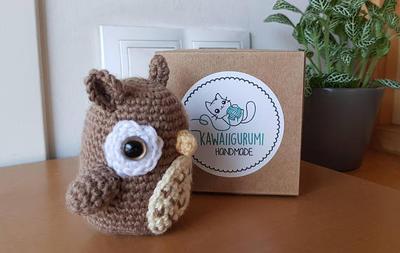 Buho kawaii amigurumi crochet ganchillo