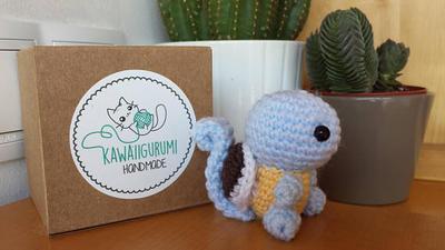 PATTERN Pokemon Squirtle kawaii amigururmi crochet