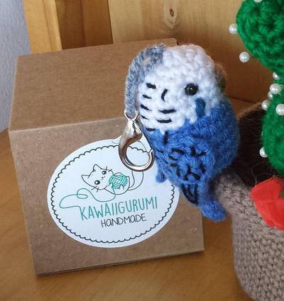 Periquito amigururmi kawaii crochet