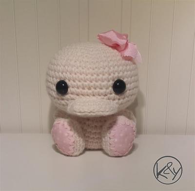 Potty, el bebé patito - Patrón crochet amigurumi