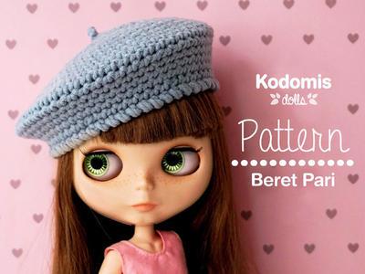 Patrón PDF - Boina Pari para Blythe