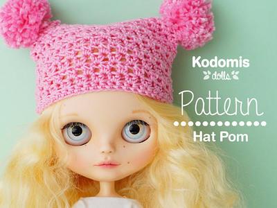 Patrón PDF - Gorro Pom para Blythe - DIY