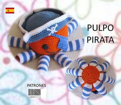 Muñeco Pulpo Pirata