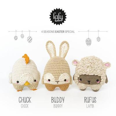 4 seasons: PASCUAS (Conejo de Pascua, Ovejita de Pascuas, Polluelo de Pascuas)