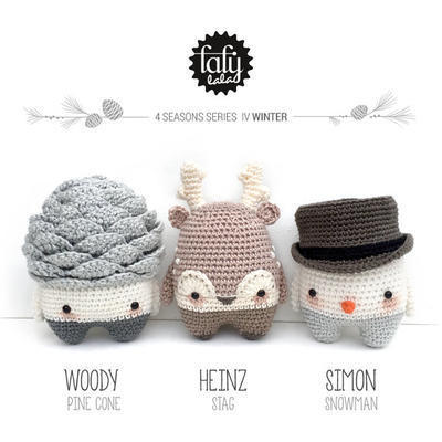 lalylala PATRÓN de crochet 4 SEASONS - INVIERNO