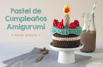 Pastel de cumpleaños amigurumi