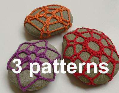 3 patrones para forrar piedras