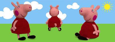 Patrón amigurumi Peppa Pig