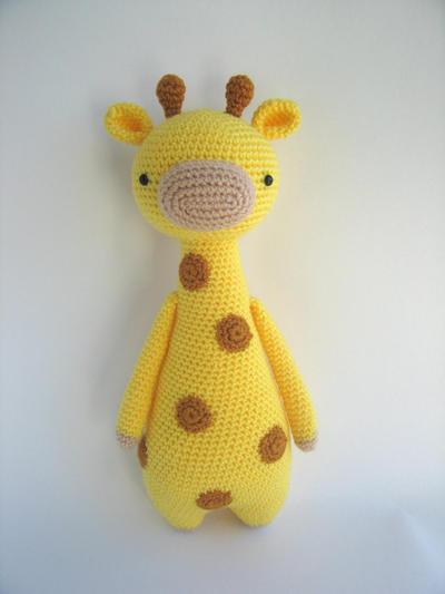Jirafa con manchas - Patrón de crochet