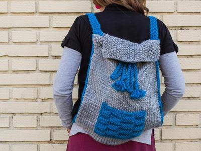 Patrón mochila de lana