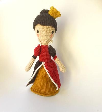 La Reina de Corazones, patrón de ganchillo/amigurumi
