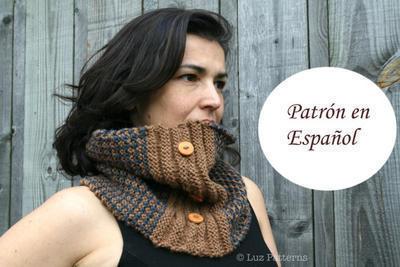 Patrón de bufanda/cuello