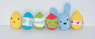 Patrón huevos de pascua