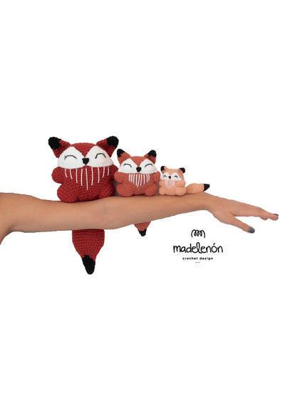 "Madelenón -  Patron de Crochet PDF ""ERIC el zorro y Familia"""