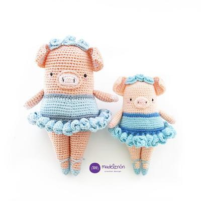 Patrón de crochet - Larissa Cerdita Bailarina