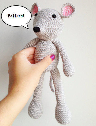 Patrón ratón amigurumi
