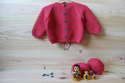 donpatron - Patrón con instrucciones de punto para chaqueta de bebé ...