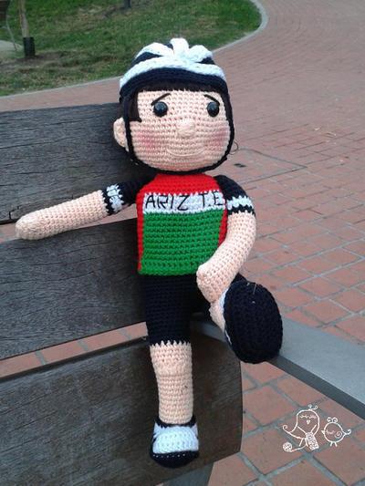 Patrón de Crochet de Muñeco Ciclista