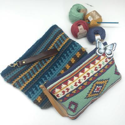 Patrón de un bonito bolso étnico