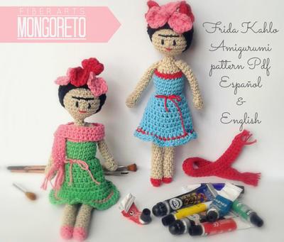 Frida Kahlo amigurumi pattern