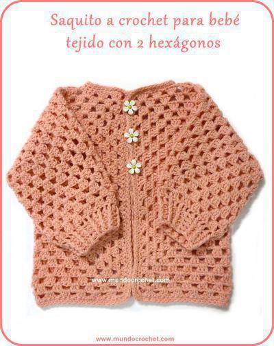 Tejidos a Crochet Para Bebe Paso a Paso Saquito a Crochet Para Beb