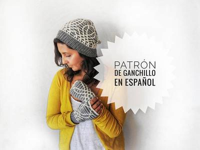 Set Rivendell Patron de Ganchillo de Gorro y Guantes
