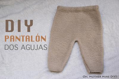 Pantalón bebé dos agujas