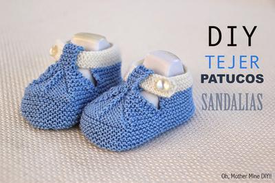 Patucos sandalias para bebé
