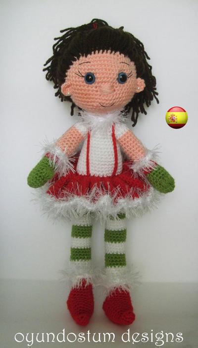 Patrón muñeca de navidad