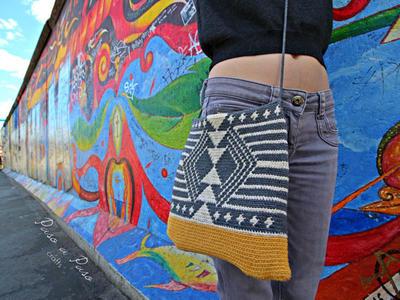 Patrón de bolso de lado de inspiración de wayuu